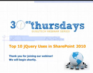 Top 10 jQuery Uses in SharePoint 2010